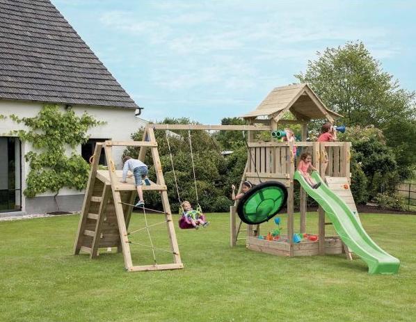 Aire De Jeux En Bois Optez Pour La Multi Activite Jardindeco
