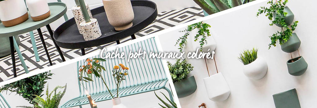Cache-pots muraux colorés : evenenement shopping sur Jardindeco.com