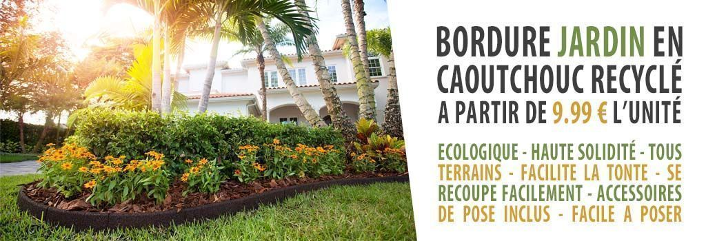 BORDURE CAOUTCHOUC EN PNEU RECYCLE : evenenement shopping sur Jardindeco.com