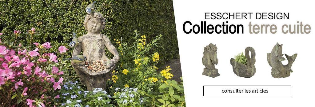 ESSCHERT DESIGN COLLECTION TERRE CUITE : evenenement shopping sur Jardindeco.com