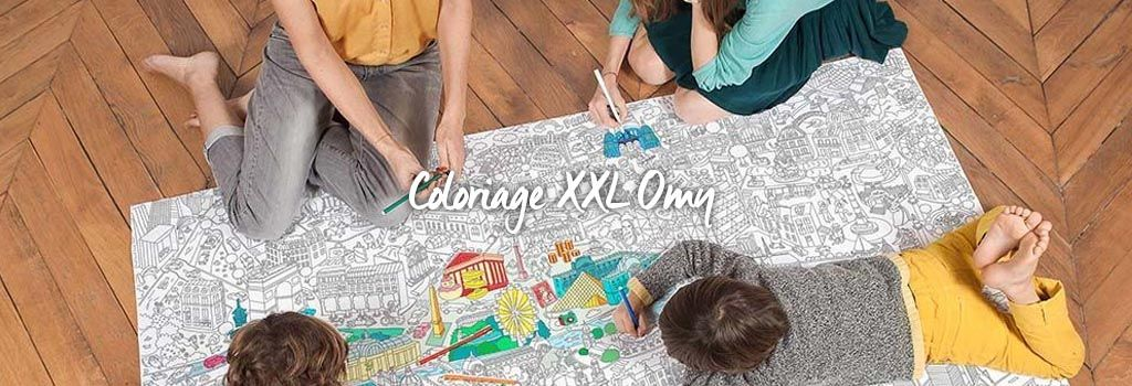 Coloriage XXL OMY : evenenement shopping sur Jardindeco.com