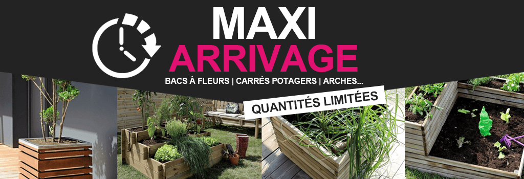 Maxi arrivage en stock : evenenement shopping sur Jardindeco.com