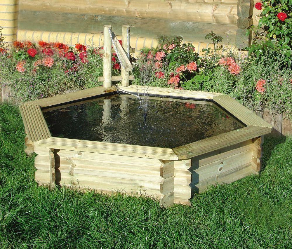 bassin de jardin hexagonal tokyo bassin jardipolys sur. Black Bedroom Furniture Sets. Home Design Ideas