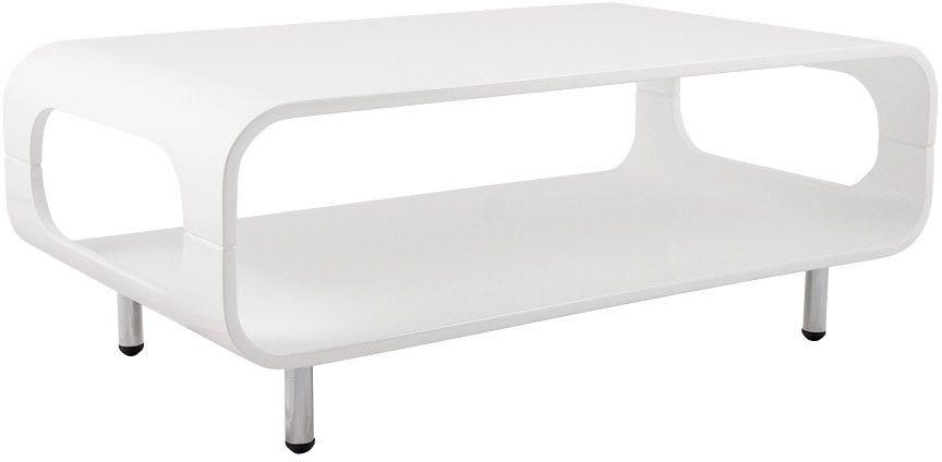 Table basse rectangulaire ligna en bois blanc 85x50x33cm
