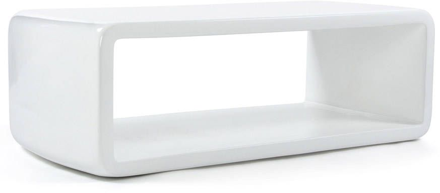 Table basse purea en fibre de verre blanc 120x61x40cm table basse kokoon design sur - Table basse fibre de verre ...