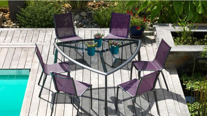 Table de jardin rectangulaire new york for Table exterieur intermarche