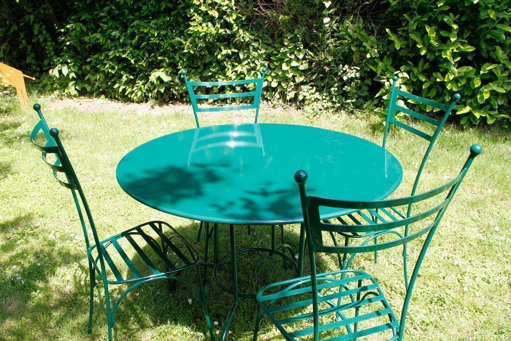 Salon De Jardin Fer Forge Vert ~ salon de jardin rond 4 places laura en fer forge vert salon de jardin