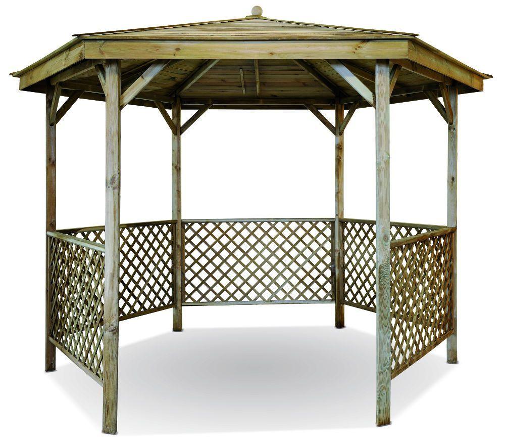 Gazebo En Bois A Vendre Usage : montage de la pergola tonnelle de jardin fixe de jardin. Garage bois