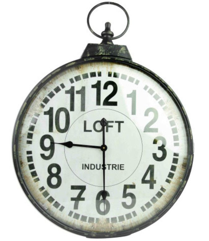 Tag re acier style industriel d coration moderne for Horloge murale style industriel
