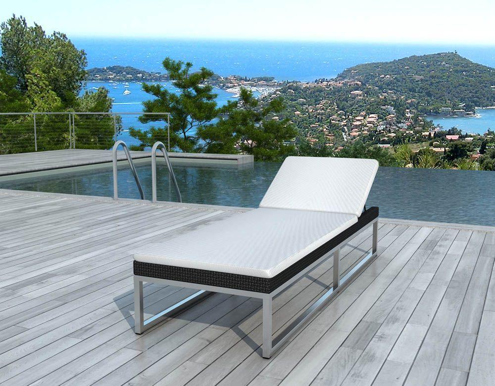 bain de soleil r sine noire coussin cru 2. Black Bedroom Furniture Sets. Home Design Ideas