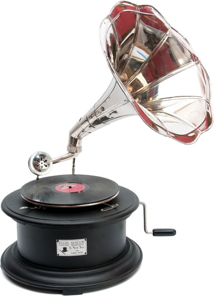 Gramophone antique grand cabaret 36x60cm
