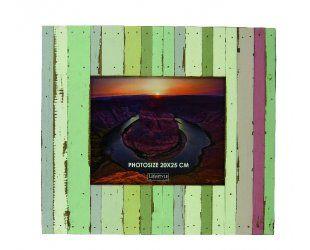 Cadre photo multicolore beach en bois 38.5x3.5x42.5cm