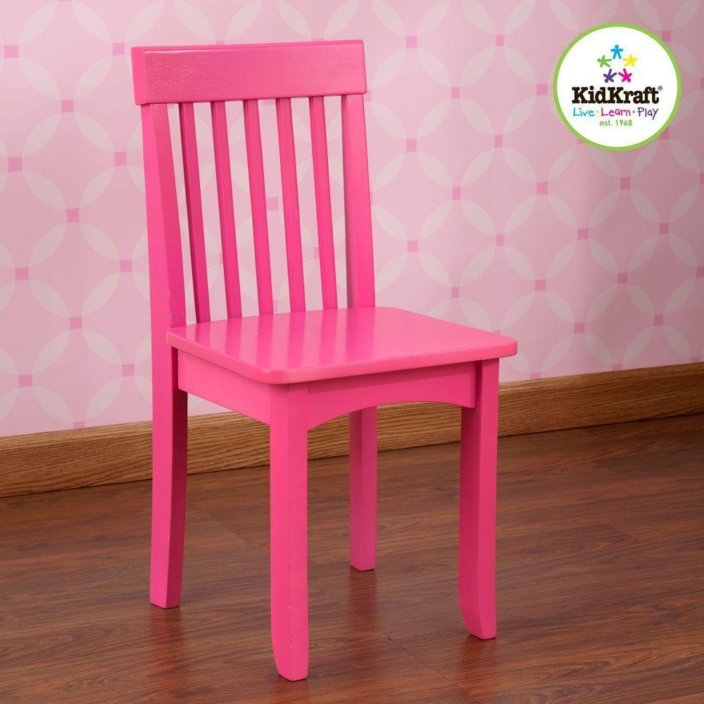 Chaise framboise en bois pour enfant 34x32x68cm