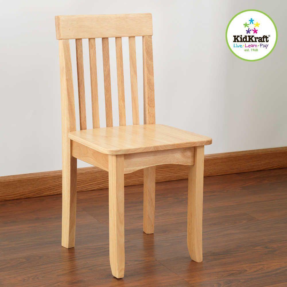 Chaise naturelle en bois pour enfant 34x32x68cm