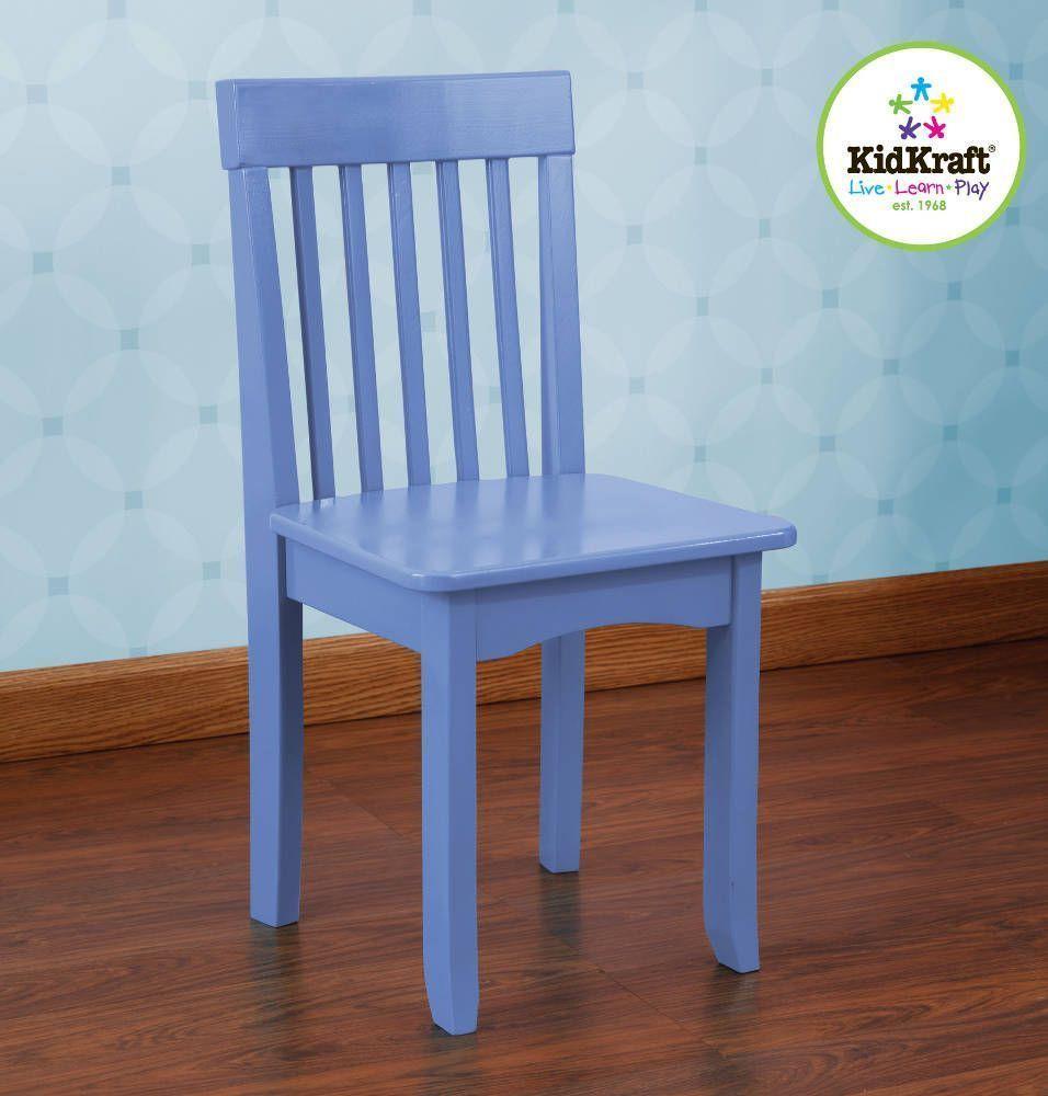 Chaise bleuet en bois pour enfant 34x32x68cm