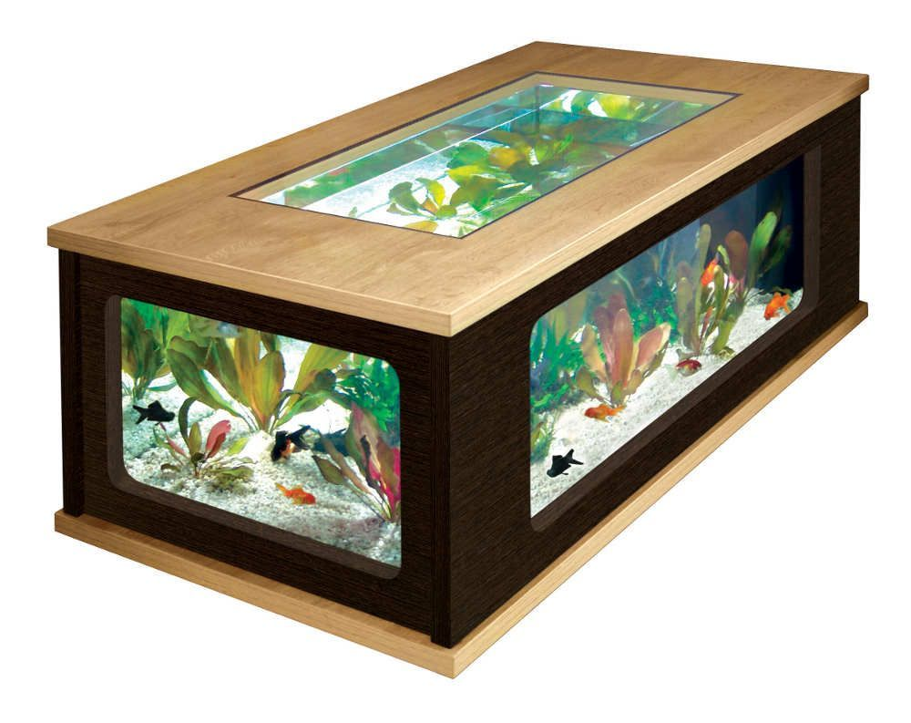 Table basse aquarium solde for Table basse design solde