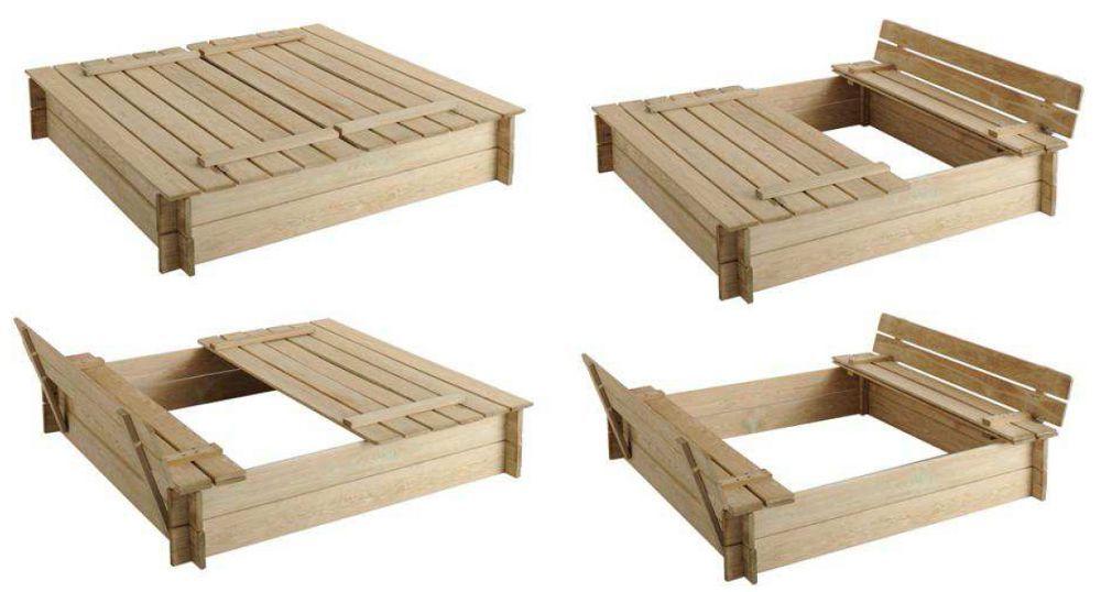 bac sable avec bancs int gr s bac sable jardipolys sur. Black Bedroom Furniture Sets. Home Design Ideas