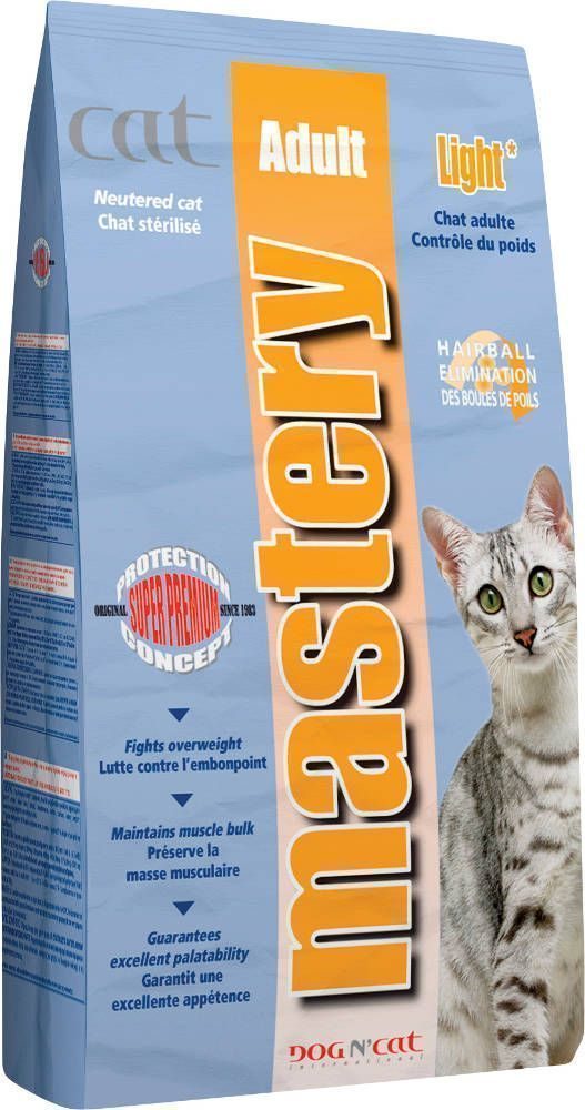 Croquettes mastery light chat adulte 3kg