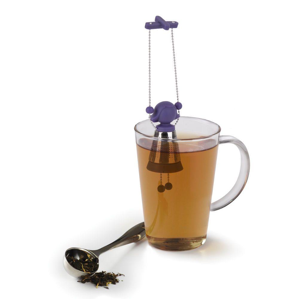 Infuseur � th� design marionnette violette 17,8x3,8cm