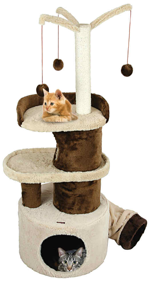Arbre � chat en fourrure synth�tique joker 45x45x115cm