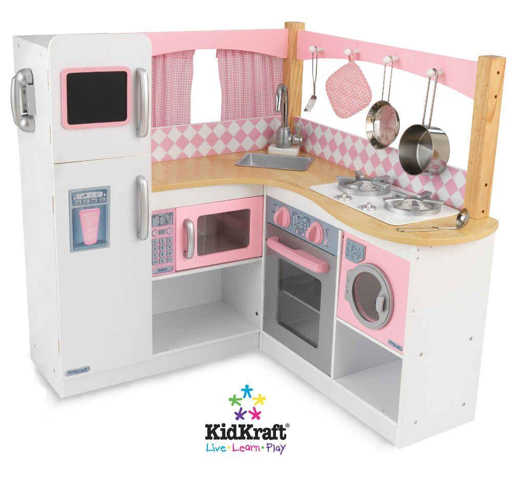 grande cuisine d 39 angle pour enfant cuisine vaisselle. Black Bedroom Furniture Sets. Home Design Ideas
