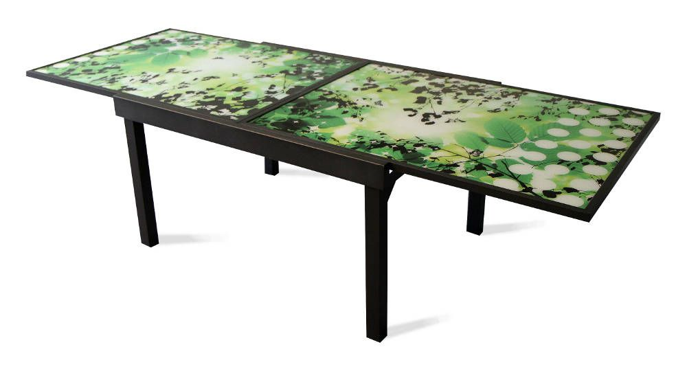table de jardin rectangulaire avec rallonge. Black Bedroom Furniture Sets. Home Design Ideas