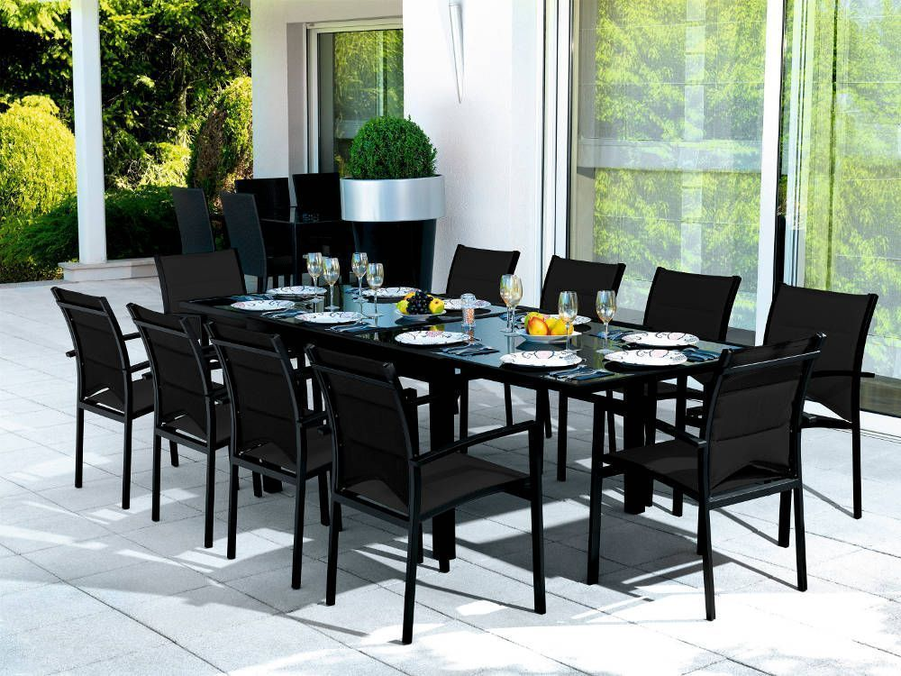 table de jardin 10 personnes. Black Bedroom Furniture Sets. Home Design Ideas