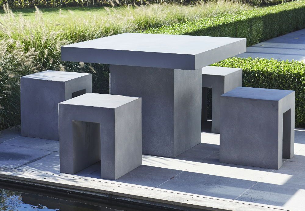 awesome salon de jardin en beton imitation bois. Black Bedroom Furniture Sets. Home Design Ideas