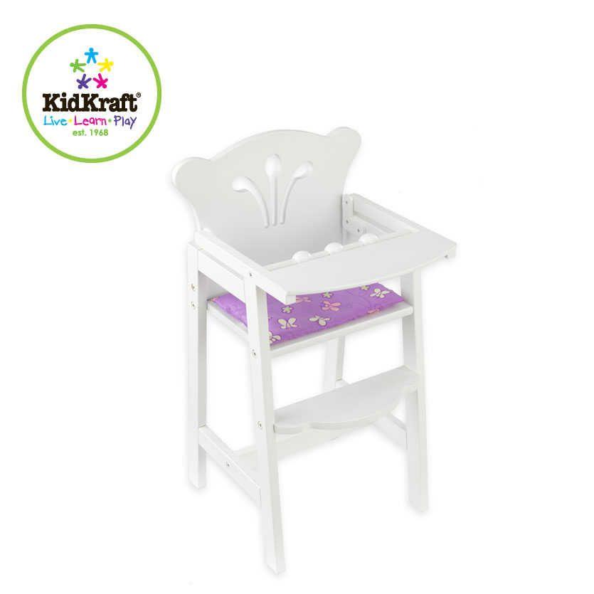 Chaise Haute Bois Poupon : chaise haute blanche en bois pour poup?e 34x31x58cm chaise haute