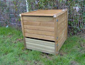 Composteur 650 litres en pin trait� 95x87x97cm