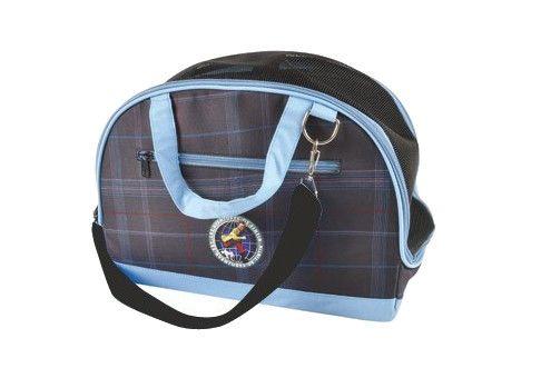 Sac de transport bleu les aventures de tintin en tissu avec renforts 36x18x26cm