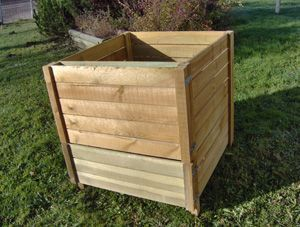 Producteur d'engrais naturelle de grand capacit� :900 l en bois trait�s,