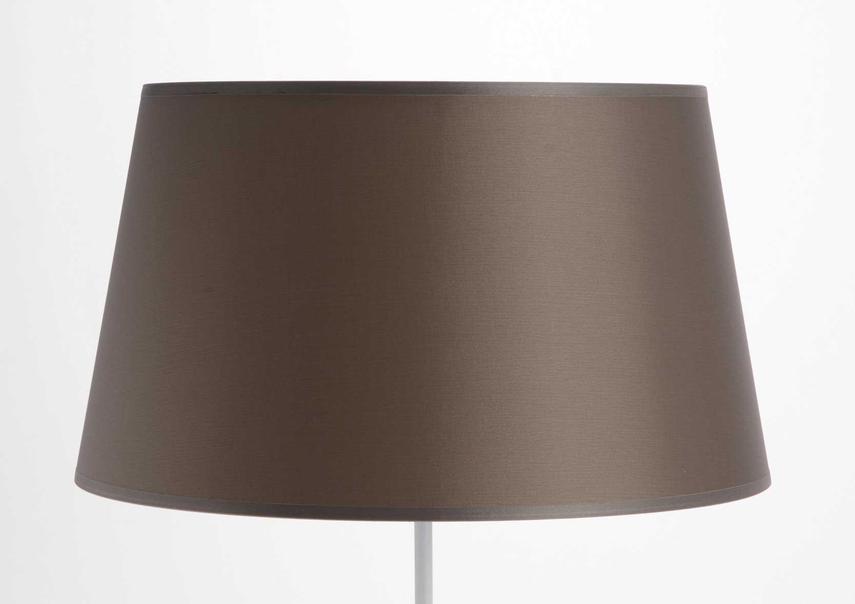 abat jour conique taffetas taupe. Black Bedroom Furniture Sets. Home Design Ideas