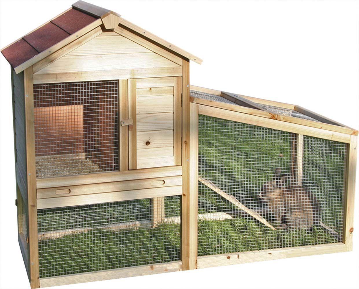 Abri en bois pour lapins freetime for Abri lapin exterieur