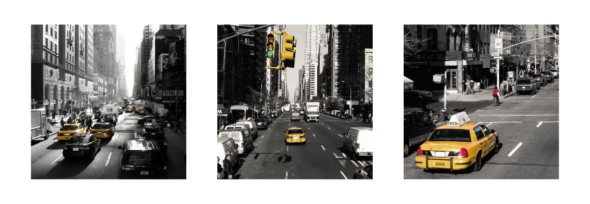 Affiche Yellow Cabs New York sur Jardindeco