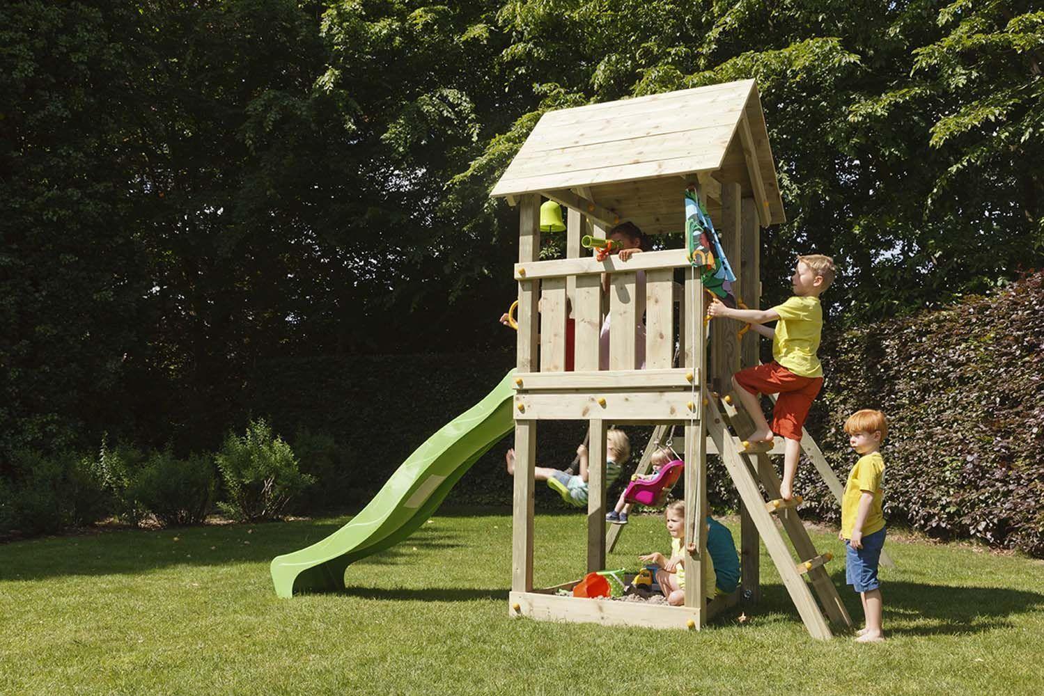 Populaires Air De Jeux En Bois. aire de jeux portique bois wickey funny farm  EA48