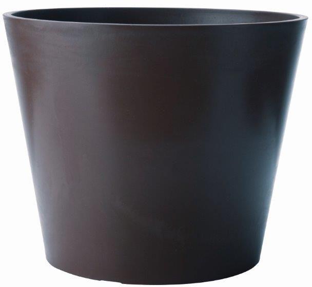 Pot rond amsterdan ardoise en poly�thyl�ne 40x33,3cm