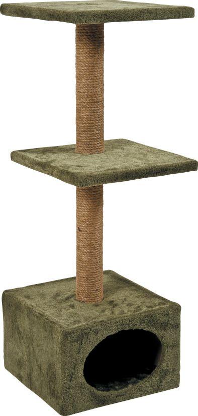 arbre chat duo kaki. Black Bedroom Furniture Sets. Home Design Ideas