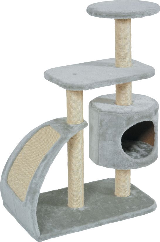 Arbre chat wave l gris for Jardinerie pas cher