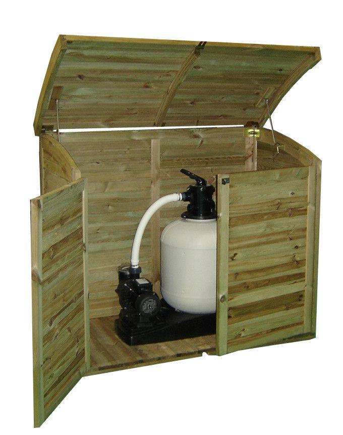 Armoire coffre de jardin en bois 900l for Armoire de jardin en bois