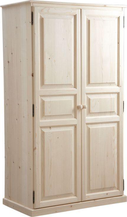 armoire bois brut 2 portes. Black Bedroom Furniture Sets. Home Design Ideas