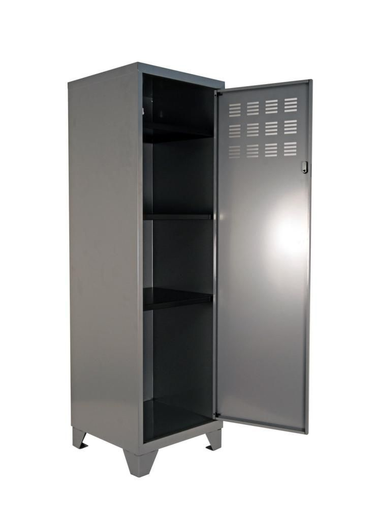 armoire de rangement m tal 1 porte alu. Black Bedroom Furniture Sets. Home Design Ideas