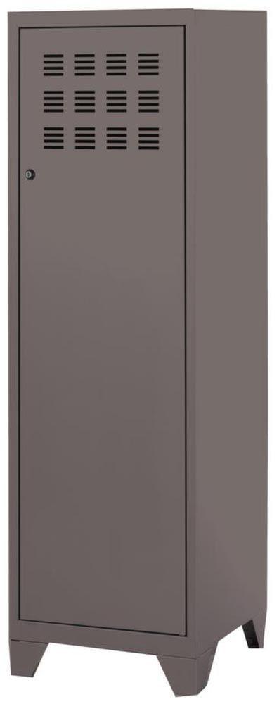 armoire de rangement m tal 1 porte taupe. Black Bedroom Furniture Sets. Home Design Ideas