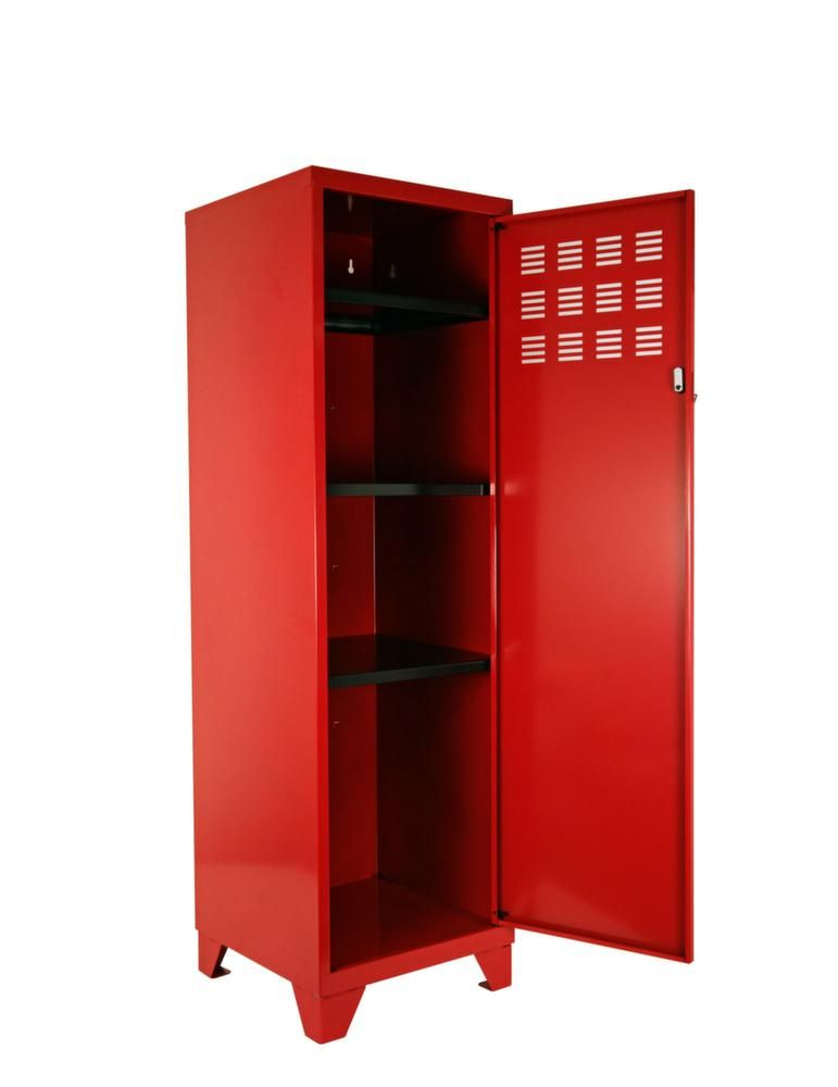 armoire de rangement m tal 1 porte rouge. Black Bedroom Furniture Sets. Home Design Ideas