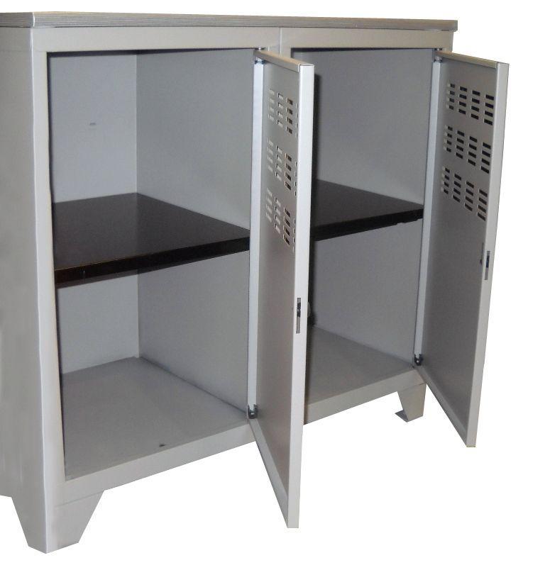 armoire de rangement m 233 tal 2 portes