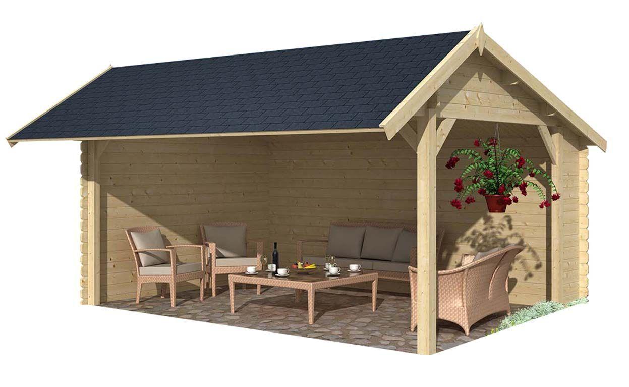 auvent en bois buzet sans bardeau. Black Bedroom Furniture Sets. Home Design Ideas