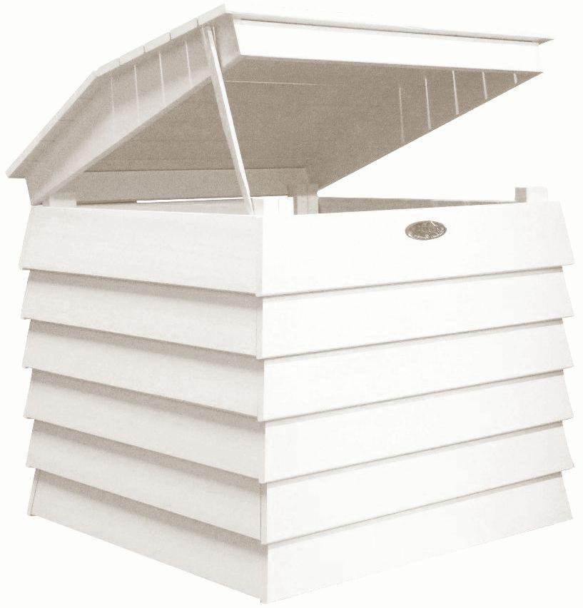 Bac � compost en bois peint (blanc)