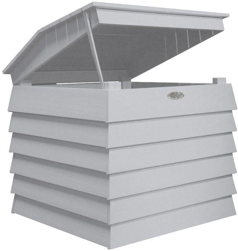 Bac � compost en bois peint (gris)