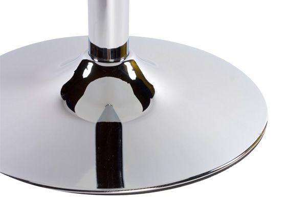 Table de bar en verre tremp� noir et m�tal chrom� design 65x110cm