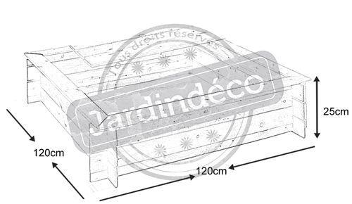 bac sable avec couvercle. Black Bedroom Furniture Sets. Home Design Ideas